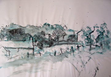 Cottages and Trees